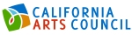 Blue and red lettering reading California Arts Council with a multicolor square next to it.
